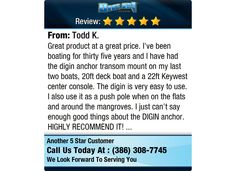 Great product at a great price. I've been boating for thirty five years and I have had the...