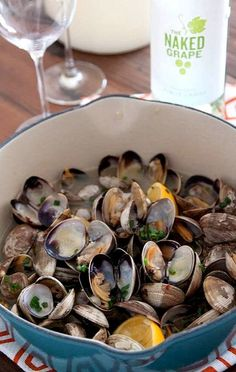 Yumm...Steamed Clams with Garlic and Chives