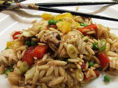 Paula deen asian chicken orzo salad