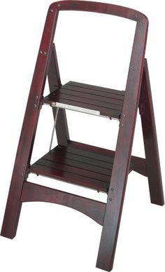 Complete your projects in style with this attractive Rockford 2-step wood step stool. The beautiful mahogany color coordinates perfectly with dark wood décor. Stool folds flat and has a locking top step for safety. Ideal for painting, wallpapering, hanging pictures, cleaning and more. ... more details available at https://furniture.bestselleroutlets.com/game-recreation-room-furniture/folding-stools/product-review-for-cosco-two-step-rockford-wood-step-stool-mahogany/