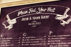 How to create Wedding Seating Chart - Template