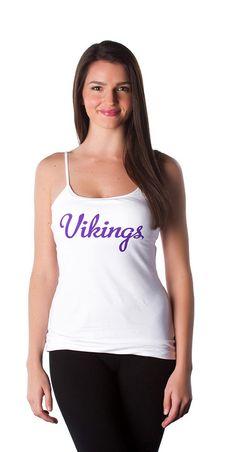 Double Team Minnesota Vikings Football, Double Team, Team Wear, Fashion Forward, Nfl, Personal Style, Tank Tops, Purple, How To Wear