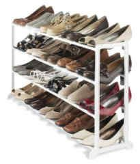 Whitmor White Resin 20 Pair Shoe Rack Fits 20 pair shoes Durable white resin frame Fits under most hanging clothes No-tool assembly For home, office or dorm room Shoe Rack Organization, Diy Shoe Storage, Closet Storage, Storage Rack, Organizing Shoes, Storage Ideas, Rack Shelf, Diy Shoe Organizer, Cosmetic Organization