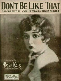 Helen Kane was the inspiration for the very popular 1930's cartoon character…