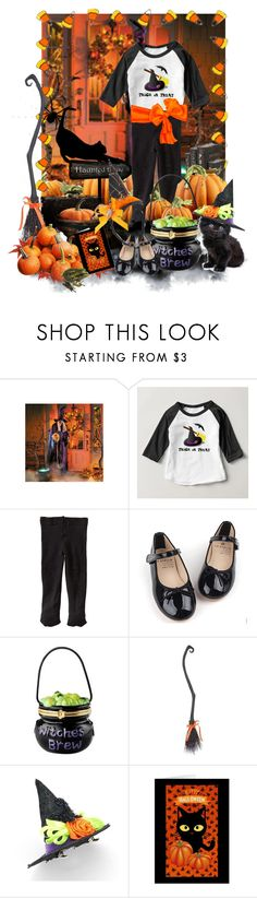 """""""The Littlest Witch"""" by sgolis ❤ liked on Polyvore featuring Improvements, Jefferies Socks, Baby, blackandorange, halloweencostume, zazzle and witchcostume"""