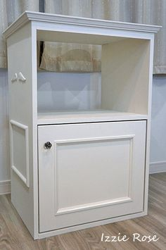 Instructions of how to make a cabinet in atelier. ミシン部屋 収納の作り方 プリンタ台