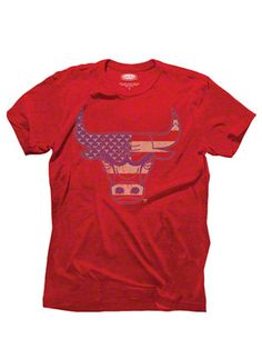 Chicago Bulls Majestic Threads Stars & Stripes Primary Logo Tri-Blend T-Shirt $35.99 #SeeRed