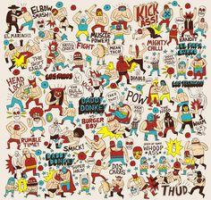 Lucha Libre illustration by Jack Teagle Cool Posters, Illustrations Posters, Illustrators, Art Drawings, Illustration Art, Character Illustration, Daddy, Artsy, Wrestling