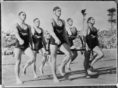 From Alexander Turnbull Library: Copy of a photo of a surf team published in the Evening Post circa 24 October Quantity: 1 b&w original negative(s). Alter, New Zealand, Surfing, Dads, Memories, Black And White, Beach, Photography, Vienna