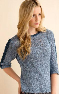 Boston Pullover in Ripple Knitting Pattern - Patterns - Knitting