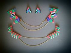 Necklace earrings set hama beads by Olivia de Bona Truc & Toc