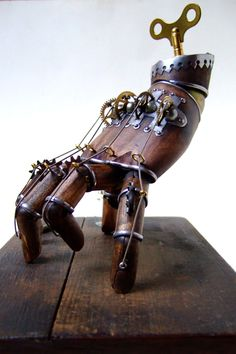 Steampunk Thing from The Addams Family by Doktor A.. http://www.escapistmagazine.com/news/view/116183-Buy-a-Steampunk-Version-of-The-Addams-Familys-Thing-for-1-400#&gid=gallery_664&pid=1