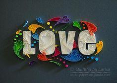 Corazones de amor quilling Quilling día corazón de amor de