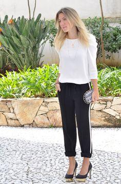 glam4you - nati vozza - look - preto e branco - calça carrot - miezko -