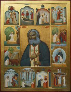 Ioan Popa, St. Seraphim of Sarov, icon (2106×2717)