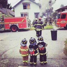 Look around, there's a lot of positivity out there! Little firefigters.  | memolition