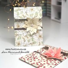 #1 Stampin' Up! UK Demonstrator Pootles – Carol's Poinsettia Card Bag! Stampin Up Christmas, Christmas Cards, Envelope Tutorial, Poinsettia Cards, Envelope Punch Board, Card Envelopes, Winter Cards, 3d Projects, Blank Cards