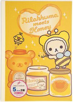 kawaii Rilakkuma bear honey bee Notepad drawing book