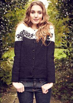 People Tree | Bella Rose Cardigan £140 Gorgeous Fair Trade, vintage inspired hand knit cardigan! #fashiontakesaction
