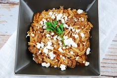 Beef Orzo with Feta - 8 Points +