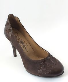 Take a look at this Dark Brown Bead Pump by FLY London on #zulily today!