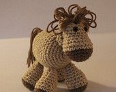 $3.50 Stacey's Colt - PDF Crochet Pattern for Horse Amigurumi - Very Cute - Great Gift