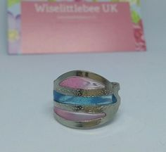 Handmade Ring Jewellery Blue Pink Blues Silver Pretty in Jewellery & Watches, Costume Jewellery, Rings | eBay!