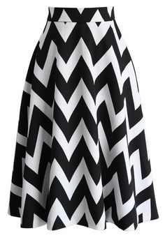 Zig Zag Charmer A-line Skirt in White - New Arrivals - Retro, Indie and Unique Fashion