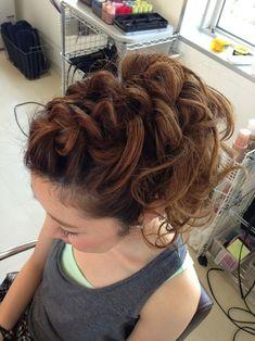 大阪・心斎橋のメイクアップ専門サロン:浴衣 ヘアーセット 大阪 Curly, Hair Beauty, Dreadlocks, Hairstyle, Hair, Hairdos, Hair Job, Hair Style, Dreads