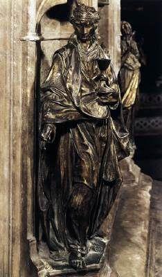 Faith - Donatello.  1427-29.  Bronze.  H:52 cm.  Baptistery, Siena, Italy.