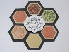 Quilt card using Honeycomb CTMH stamp set