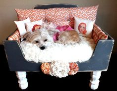 One-Of-A-Kind Dog Bed, Lilly Pet Lounger. $900.00, via Etsy.
