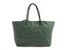 Auth pre owned Goyard Saint Louis PM PVC Green Tote Bag #Goyard #TotesShoppers
