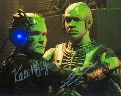 Janeway Tuvok (of Borg, no less!) buddy shot. Signed by Kate Mulgrew and Tim Russ, respectively. :)