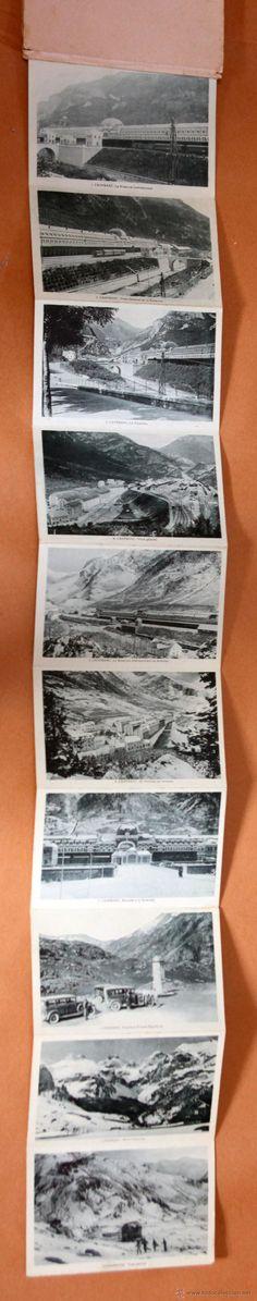 Postales: Desplegable diez postales Recuerdo de Canfranc, Huecograbado - Foto 1 - 45536259