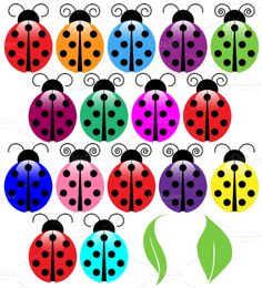 Check out Ladybugs Vectors and Clipart by PinkPueblo on Creative Market http://crtv.mk/eNYZ