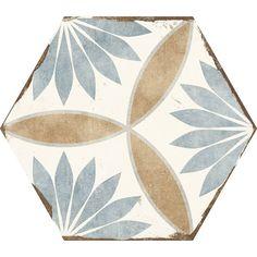 Carrelage hexagonal rétro imitation carreau de ciment - BO8506001 - Comptoir du Cérame