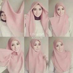 How to wear hijab pashmina Ideas for 2019 Tutorial Hijab Segi 4, Square Hijab Tutorial, Simple Hijab Tutorial, Hijab Style Tutorial, Hijab Outfit, Hijab Dress, Cara Hijab, Hijab Chic, Hijab Fashion Inspiration
