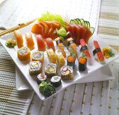 Sushi/sashimi platter.