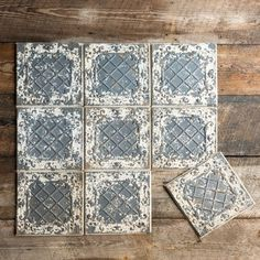 Use this antique white tin ceiling tile to add nostalgic impact. Features a distressed and rusted white paint finish on an embossed tin tile. x x Metal Sold as a set of 16 Tin Tile Backsplash, Tin Tiles, Kitchen Backsplash Tin, Backsplash Ideas, Kitchen Floor, Kitchen Reno, Kitchen Remodel, Grey Ceiling, Ceiling Decor