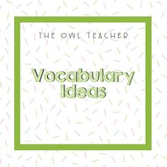 Vocabulary Ideas, Word Work, Spelling, Classroom, Teacher, Activities, Words, Professor