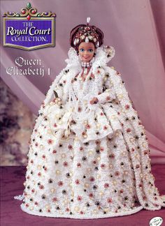 Queen Elizabeth I Outfit for Barbie Doll Annie's Royal Court Crochet Pattern NEW