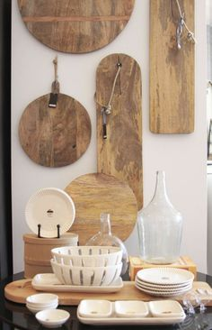 lovely cutting board collection. I love this display!