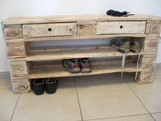 Etagen-Schuhregal aus Paletten                              …