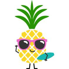 Pineapple Pictures, Cute Pineapple, Pineapple Design, Cartoon Cupcakes, Pineapple Wallpaper, How To Make Stickers, Cute Couple Art, Kawaii Doodles, Watercolor Projects