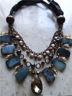 Bead Gallery® Katarina Necklace designed by I Love Jewelry, Statement Jewelry, Jewelry Box, Jewelry Accessories, Jewelry Design, Jewelry Making, Fashion Accessories, Cool Necklaces, Jewelry Necklaces