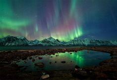 Nature is incredible. Aurora boreal en Tromso, Noruega, trala explosión solar do luns 23 de febreiro. Fotografía de Ole C. Tromso, Aurora Borealis, See The Northern Lights, Earth From Space, To Infinity And Beyond, National Geographic, Wonders Of The World, Beautiful World, Beautiful Sky