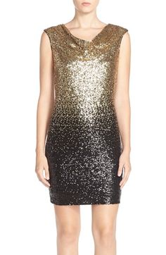 i like - wish the bottom wsant black though - Maia Ombré Sequin Sheath Dress available at #Nordstrom
