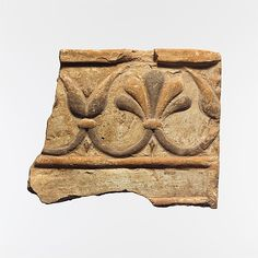 Fragment of a terracotta architectural tile, Lydian culture, Archaic period, 6th century BC, terracotta