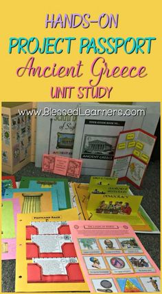 Hands-on Project Passport: Ancient Greece Unit study gives wonderful learning experience in the world history with several alive learning skills covered. #worldhistoryteaching #ancient #greece #country